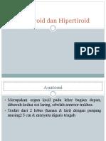 Hipotiroid Dan Hipertiroid