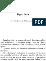 Dysarthria by Dr. Somesh Maheshwari