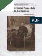 Doña Mercedes Porras Isla viuda de Jiménez