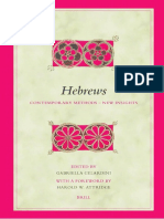 GELARDINI Gabriella 2005 Hebrews Contemporary Methods New Insights Biblical Interpretation Series 75 Leiden and Bosto