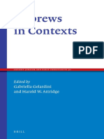 GELARDINI Gabriella and ATTRIDGE Harold W 2016 Hebrews in Contexts Ancient Judaism and Early Christianity 91 Leiden A