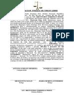 Declaracion Jurada de Union Libre Mio