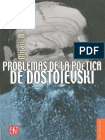Bajtin Mijail Problemas de La Poetica de Dostoievski PDF