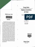 LUKÁCS, Georg. História e Consciência de Classe