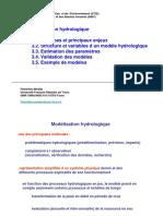 3. Modélisation hydrologique