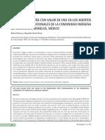 LA FAUNA SILVESTRE CON VALOR de USO en LOS HUERTOS Fruticolas Tradicionales de Xoxocotla Morelos