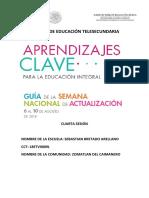 Productos Cuarta Sesión Zona 10 de Educación Telesecundaria.