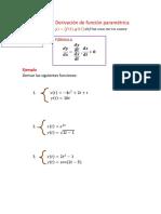 Derivacion de La Funcion Parametricas SESION 12