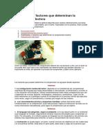 Habilidades y Factores Que Determinan La Comprensión Lectora