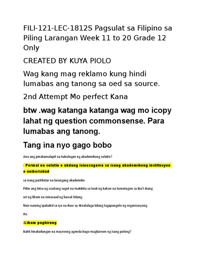 Top Twelve Halimbawa Ng Agenda Sa Akademikong Sulatin {Kwalai}