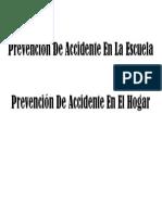 Prevención de Accidente en La Escuela