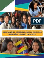 Orientaciones Generales Educacion Media