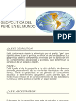 Visión Geopolítica Del Perú en El Mundo