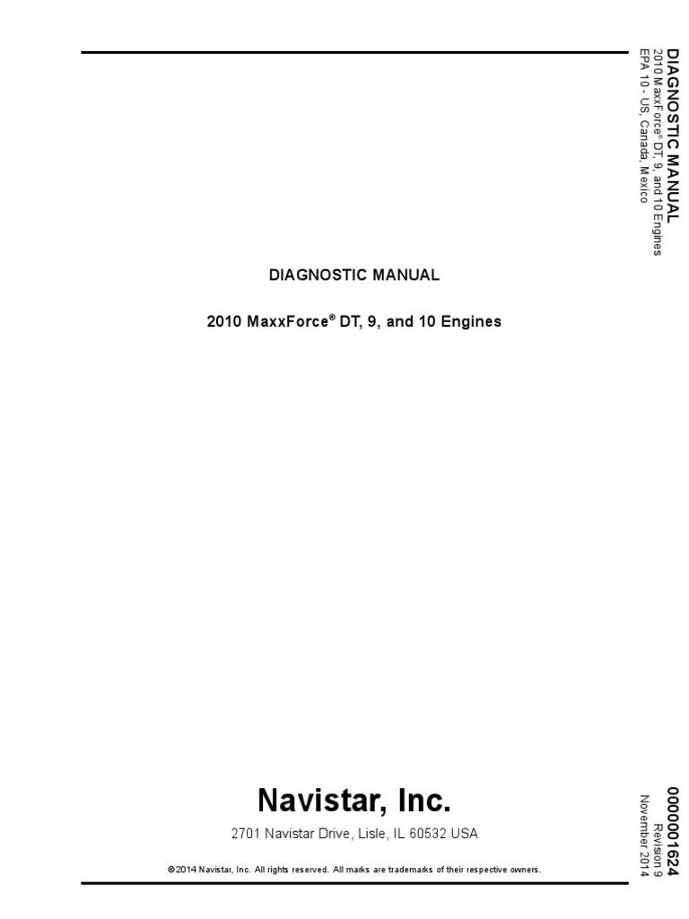 2010 MaxxForce DT-9-10 Diagnostic | Turbocharger | Piston