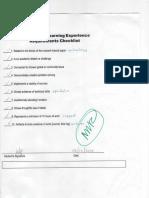 sle requirements checklist