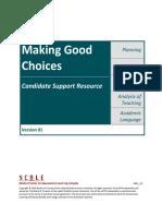 edtpa making good choices