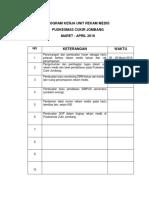 Program Kerja Unit Rekam Medis Tahap i