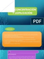 Crioconcentración y Liofilización
