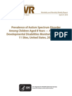 Prevalence of Autism Spectrum Disorder Among Children Aged 8 Years- Autism and Developmental Disabilities Monitoring Network