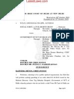 Delhi High Court Judgement Quashing Govt Circular Giving Prefrential Treatment to Delhi Residents