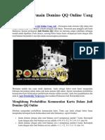Panduan Bermain Domino QQ Online Uang Asli