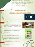Seminario extracción de nicotina