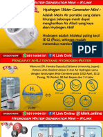 K Link Hydrogen Water Generator H2 Mini Kota Dumai WA 08114494181