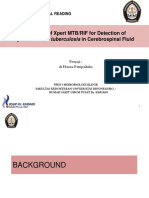 Evaluation of Xpert MTBRIF for Detection of Mycobacterium