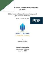 5,1, BE & GG, Abdul Latif., SE, Prof. Dr. Ir. Hapzi Ali, MM, CMA, Ethical Issues in Human Resource Management, Mercu Buana University, 2018.