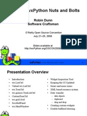 Advanced WxPython Nuts and Bolts Presentation | Widget (Gui