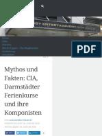 Mythos und Fakten