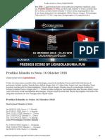 Prediksi Bola Islandia vs Swiss