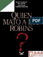 _Quien Mato a Los Robins_ - Thomas Chastain