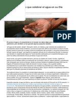 Lo que (no) tiene que celebrar el agua en su Día Mundial (EsGlobal, 20-03-15)