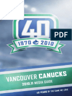 2010-11 Vancouver Canucks Media Guide