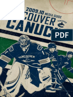 2009-10 Vancouver Canucks Media Guide