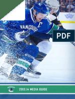 2013-14 Vancouver Canucks Media Guide