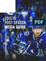 2016 Vancouver Canucks Post Season Media Guide