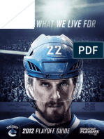 2012 Vancouver Canucks Playoff Media Guide