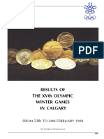 Calgary 1988 Winter Olympics Official Result Book