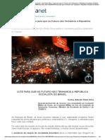 Gen Pinto Silva – Lute Para Que No Futuro Não Tenhamos a República Socialista Do Brasil-x