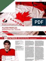 Hockey Canada Media Guide - 2010 Olympics, Player Profiles