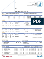 Official Game Sheet - 2014 Olympic Men's Hockey Final