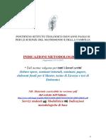 Indicazioni Metodologiche Online - 2017-2018