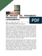 Un Enfoque Del Pensamiento Pedagógico Emancipador en Latinoamérica