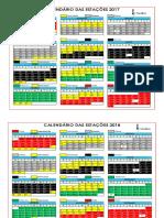 Calendário Das Estações - 2017 a 2020(1)