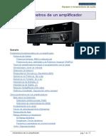 Parametros de un amplificador integrado de audio - José Fco. Alonso Calvo