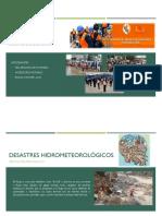 DIAPOSITIVA - DESASTRES HIDROMETEOROLOGICOS