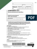 Specimen (IAL) QP - S1 Edexcel