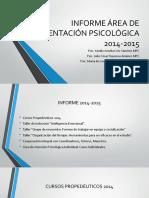 Informe Primer Semestre 2015